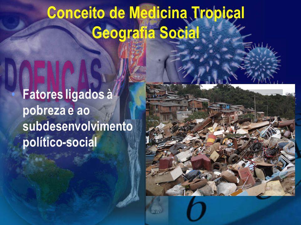 Conceito de Medicina Tropical Geografia Social Fatores ligados à pobreza e ao subdesenvolvimento político-social