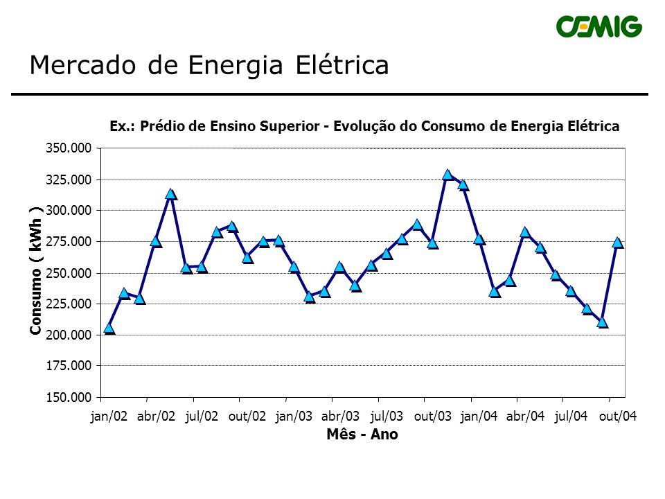 Característica do Mercado em 2003 As industrias representam 59% do mercado da CEMIG, mostrando a importância da empresa no abastecimento e na garantia