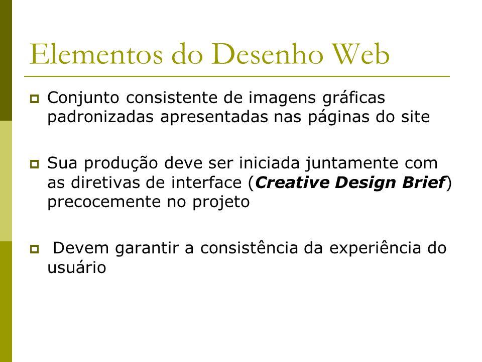 Elementos do Desenho Web Conjunto consistente de imagens gráficas padronizadas apresentadas nas páginas do site Sua produção deve ser iniciada juntame