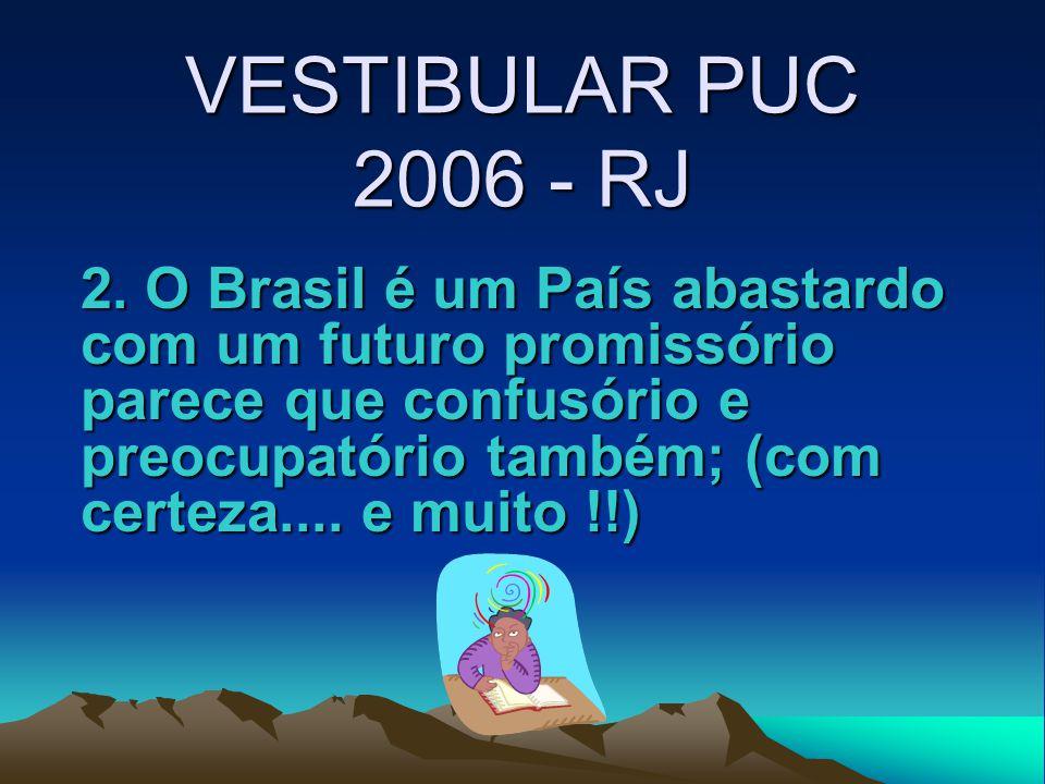 VESTIBULAR PUC 2006 - RJ 2.