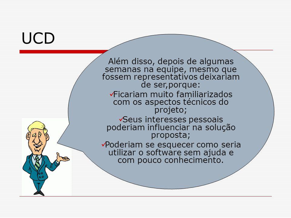 UCD Análise de Contexto de Uso Com a Análise de Contexto de Uso, garantimos entender quem são os usuários, suas motivações, responsabilidades, tarefas, frequência, importância, ambiente físico e social, etc.