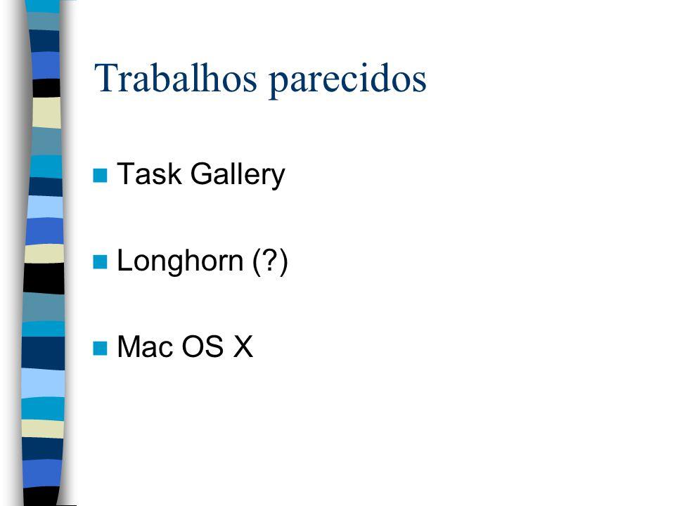 Trabalhos parecidos Task Gallery Longhorn ( ) Mac OS X
