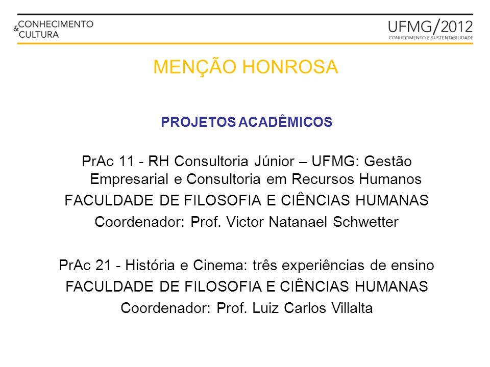 PrAc 11 - RH Consultoria Júnior – UFMG: Gestão Empresarial e Consultoria em Recursos Humanos FACULDADE DE FILOSOFIA E CIÊNCIAS HUMANAS Coordenador: Pr