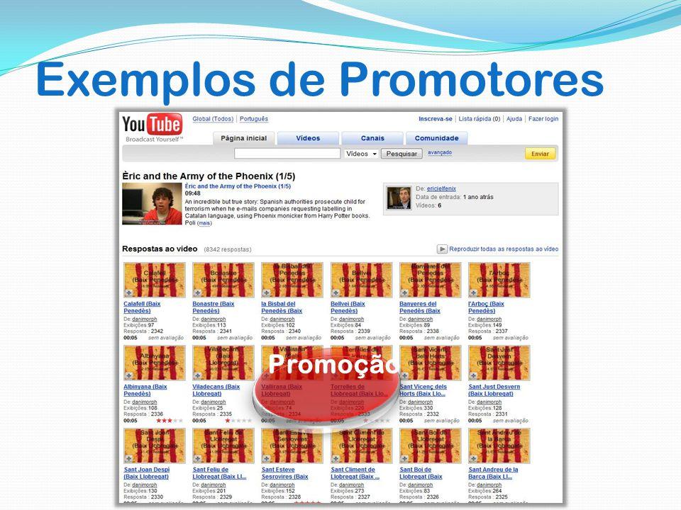 Exemplos de Promotores Promoção