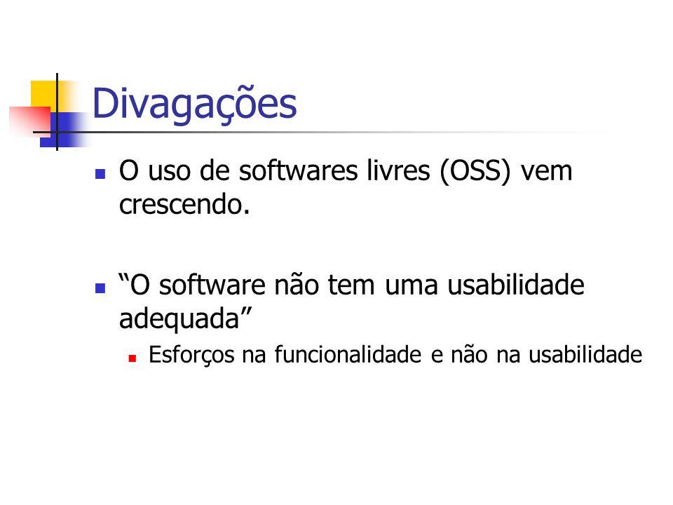 Divagações O uso de softwares livres (OSS) vem crescendo.