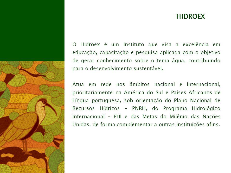 O Hidroex é um Instituto que visa a excelência em educação, capacitação e pesquisa aplicada com o objetivo de gerar conhecimento sobre o tema água, contribuindo para o desenvolvimento sustentável.