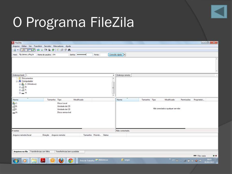 O Programa FileZila