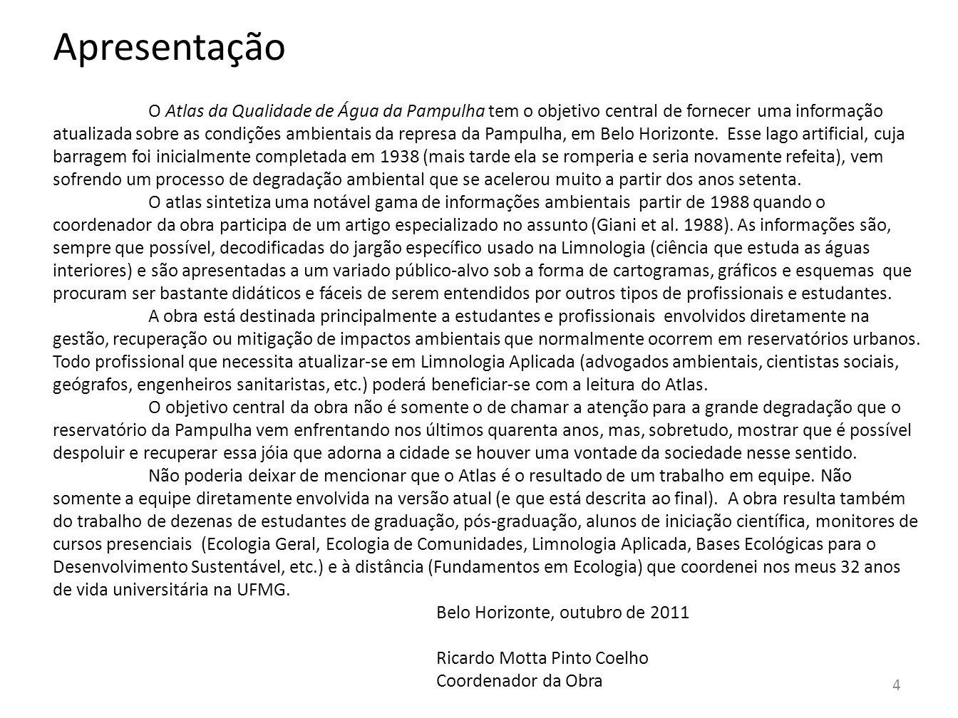 5 História da Pampulha A represa da Pampulha foi construída na administração do prefeito Octacílio Negrão de Lima sendo inaugurada em 1938.