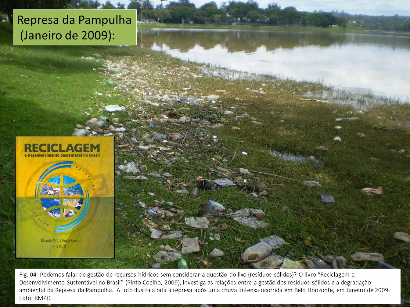 Fig. 04- Podemos falar de gestão de recursos hídricos sem considerar a questão do lixo (resíduos sólidos)? O livro Reciclagem e Desenvolvimento Susten