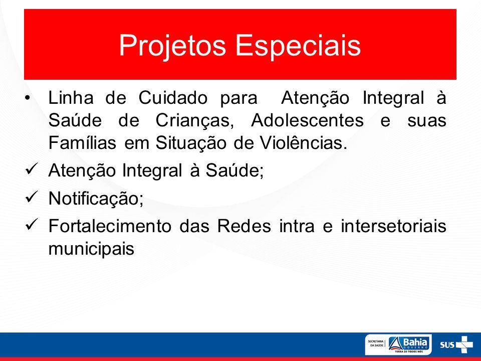 Projetos Especiais Linha de Cuidado para Atenção Integral à Saúde de Crianças, Adolescentes e suas Famílias em Situação de Violências. Atenção Integra
