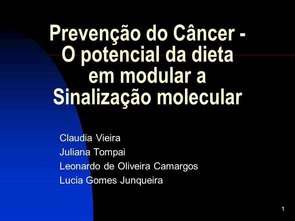 1 Prevenção do Câncer - O potencial da dieta em modular a Sinalização molecular Claudia Vieira Juliana Tompai Leonardo de Oliveira Camargos Lucia Gomes Junqueira