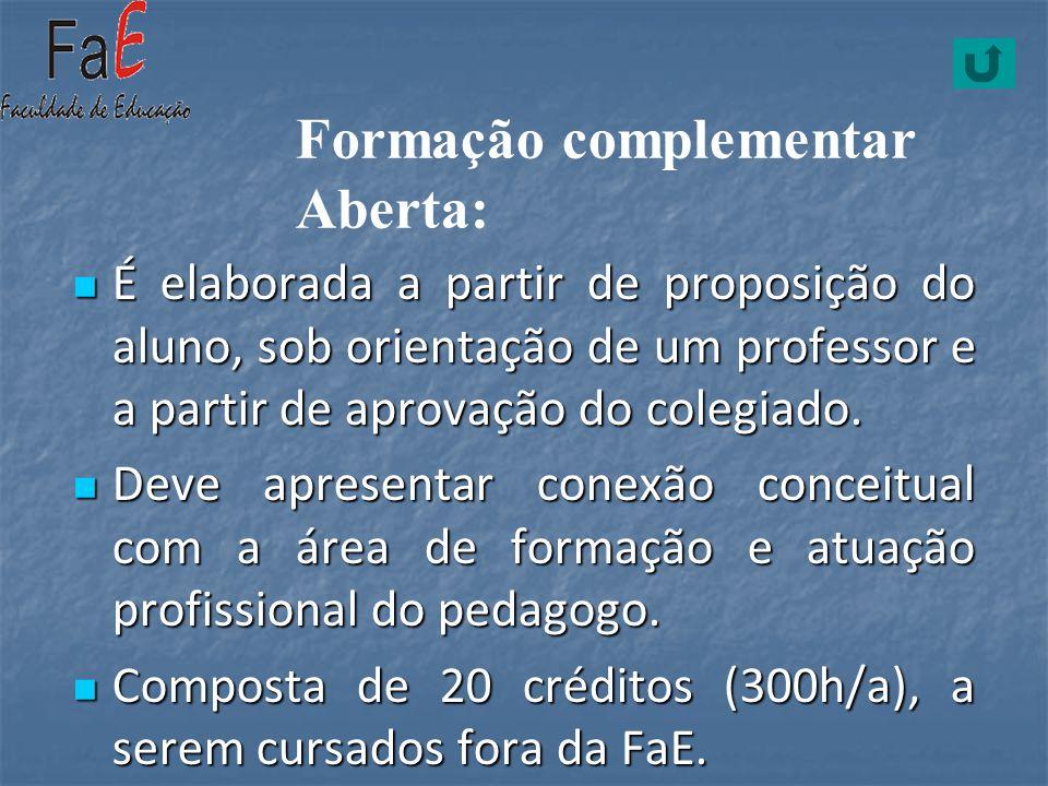 É elaborada a partir de proposição do aluno, sob orientação de um professor e a partir de aprovação do colegiado. É elaborada a partir de proposição d