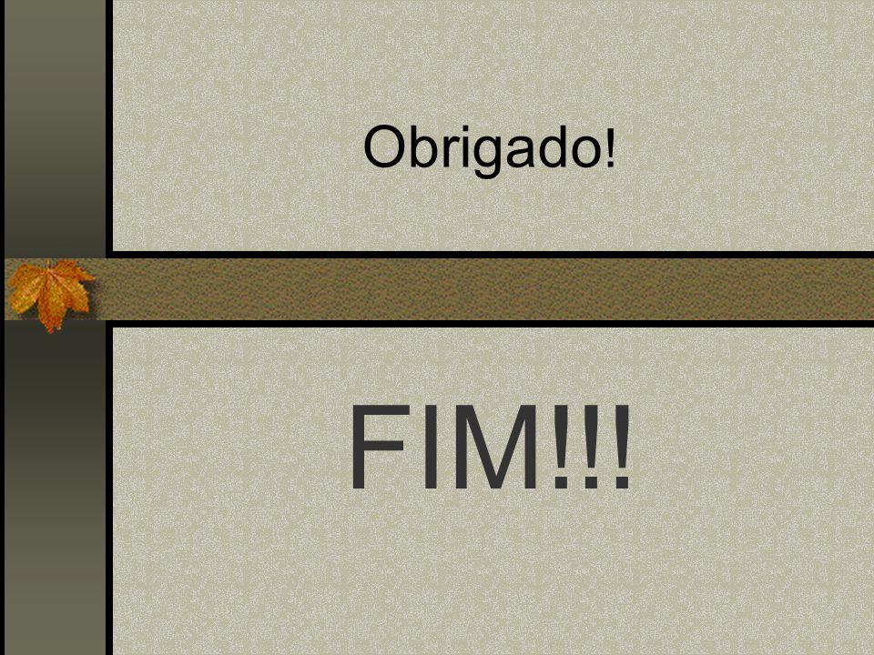 Obrigado ! FIM!!!