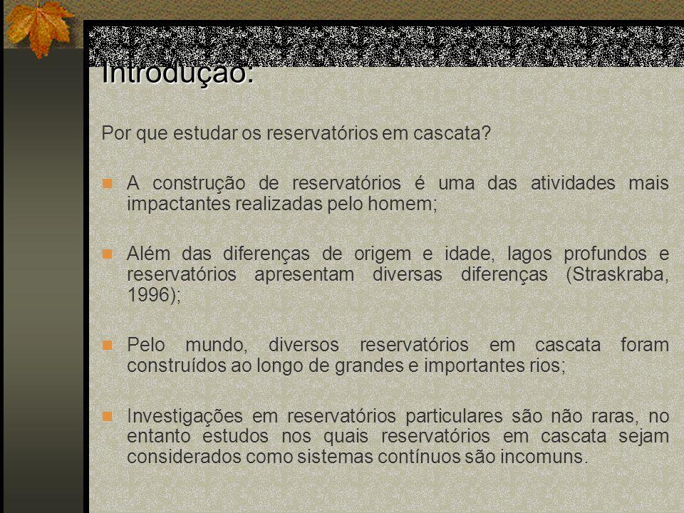 Histórico Histórico: De onde surgiu o conceito de reservatórios em cascatas como sistemas contínuos.