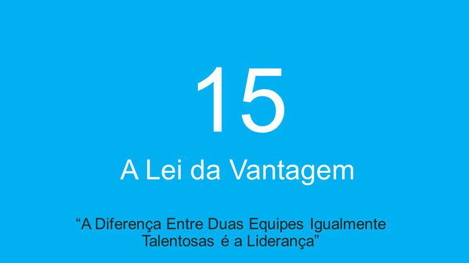 15 A Lei da Vantagem A Diferença Entre Duas Equipes Igualmente Talentosas é a Liderança