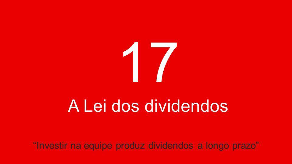 17 A Lei dos dividendos Investir na equipe produz dividendos a longo prazo