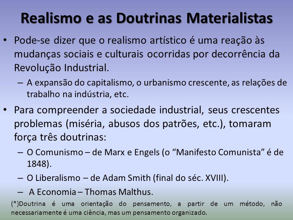 Realismo e as Doutrinas Materialistas Pode-se dizer que o realismo artístico é uma reação às mudanças sociais e culturais ocorridas por decorrência da