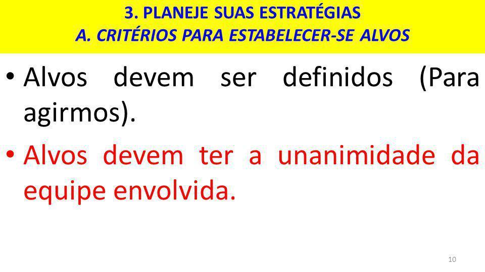 3.PLANEJE SUAS ESTRATÉGIAS A.