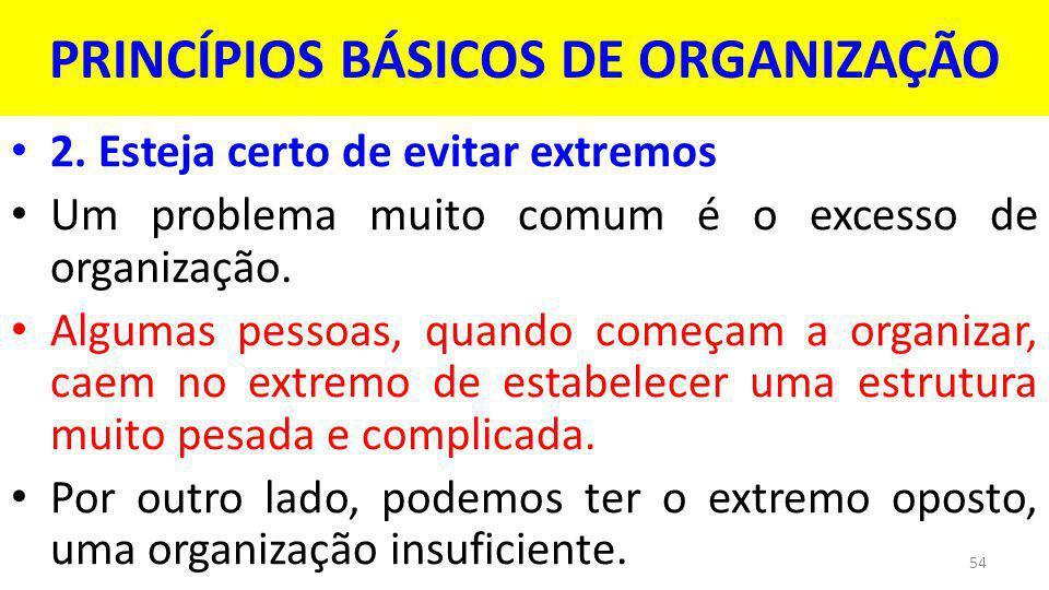 PRINCÍPIOS BÁSICOS DE ORGANIZAÇÃO 2.