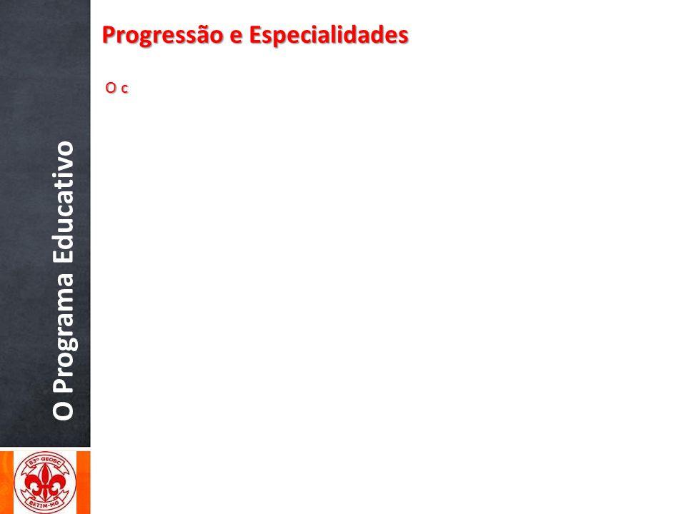O Programa Educativo Progressão e Especialidades O c O c