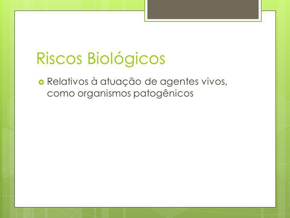 Riscos Biológicos Relativos à atuação de agentes vivos, como organismos patogênicos