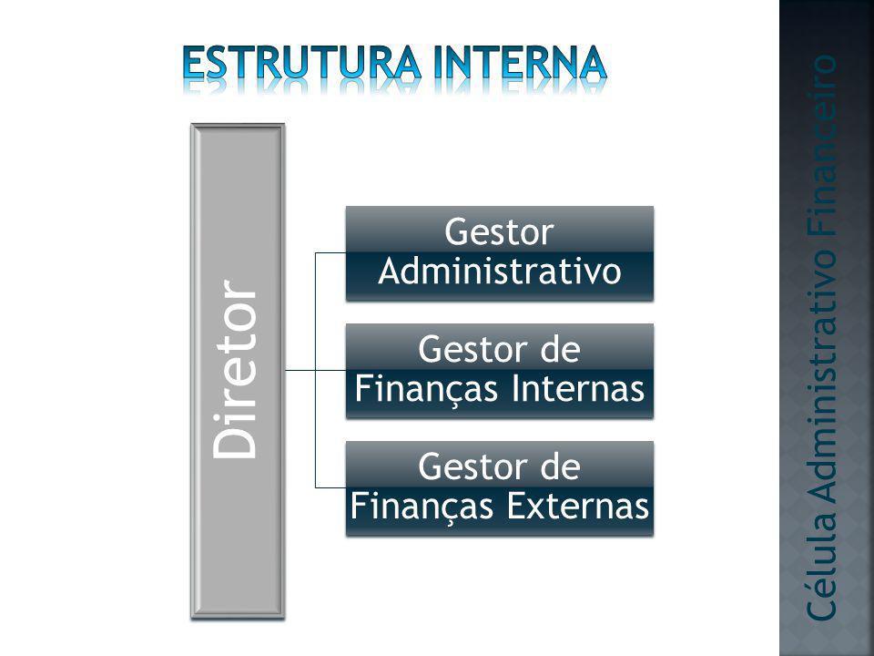 Diretor Gestor Administrativo Gestor de Finanças Internas Gestor de Finanças Externas Célula Administrativo Financeiro