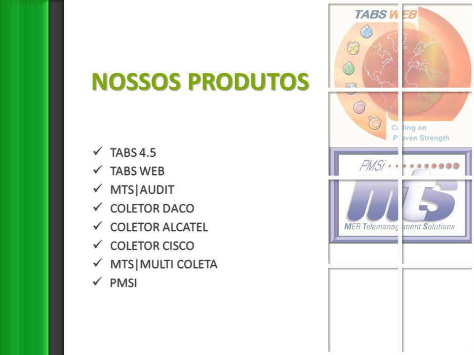 TABS WEB Redução de custo Com o mais eficiente sistema de tarifação do mercado