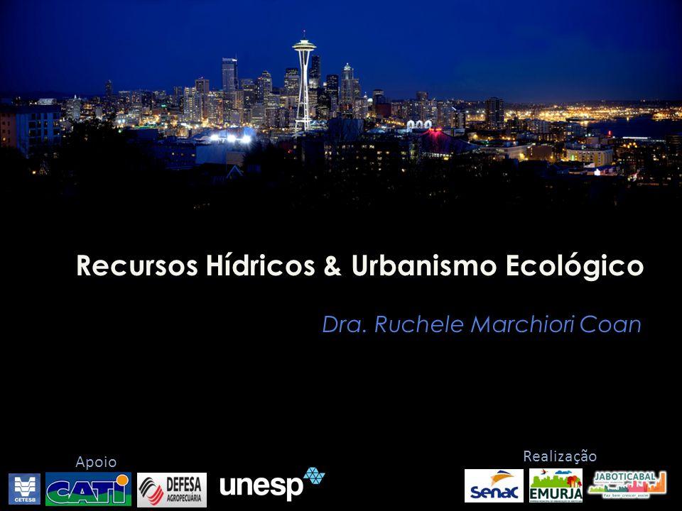 Recursos Hídricos & Urbanismo Ecológico Dra. Ruchele Marchiori Coan Realização Apoio