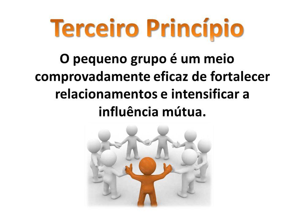 O pequeno grupo é um meio comprovadamente eficaz de fortalecer relacionamentos e intensificar a influência mútua.