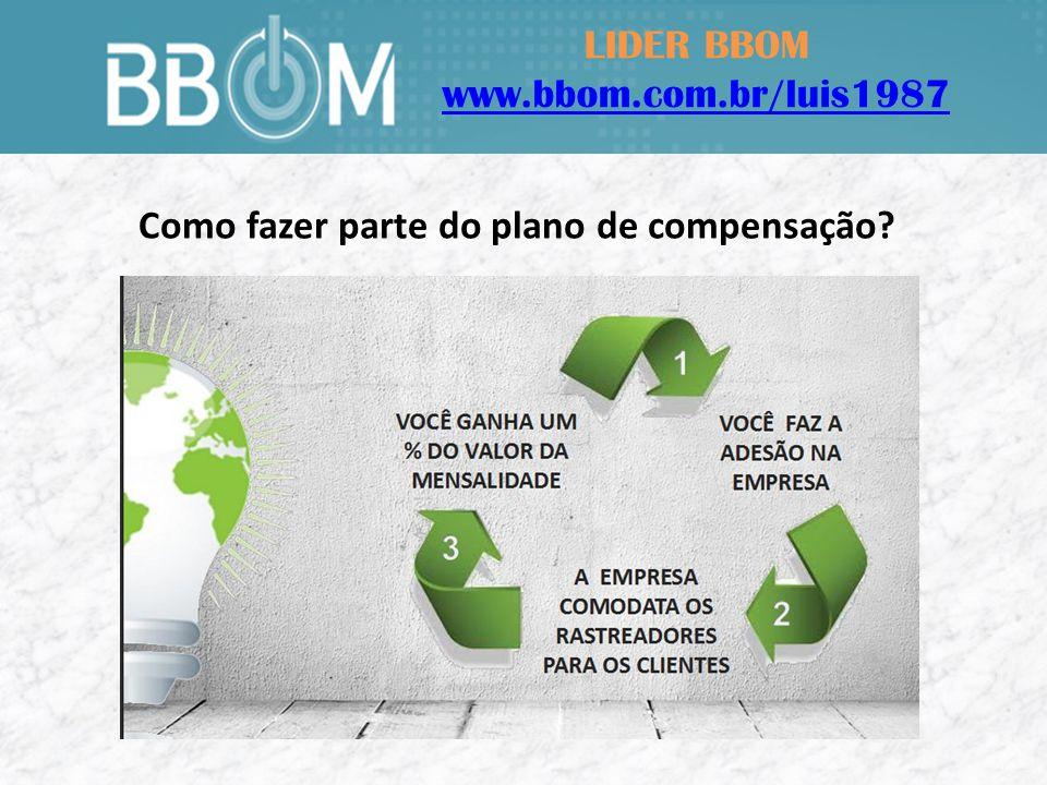 LIDER BBOM www.bbom.com.br/luis1987 Como fazer parte do plano de compensação