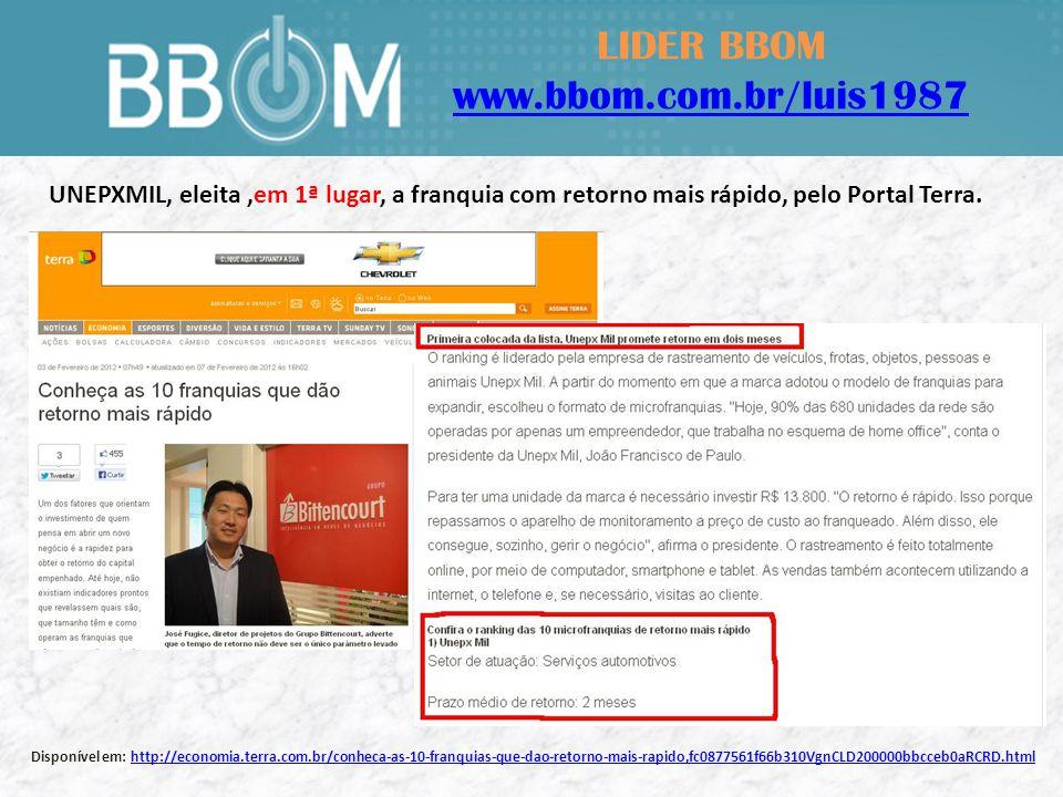 LIDER BBOM www.bbom.com.br/luis1987 Escritório Matriz - UNEPXMIL Indaiatuba – SP Escritório BBOM ED.