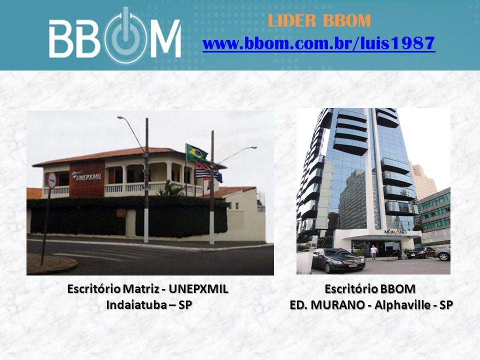 LIDER BBOM www.bbom.com.br/luis1987 Sr.Ednaldo Bispo Diretor de Marketing da BBOM Sr.