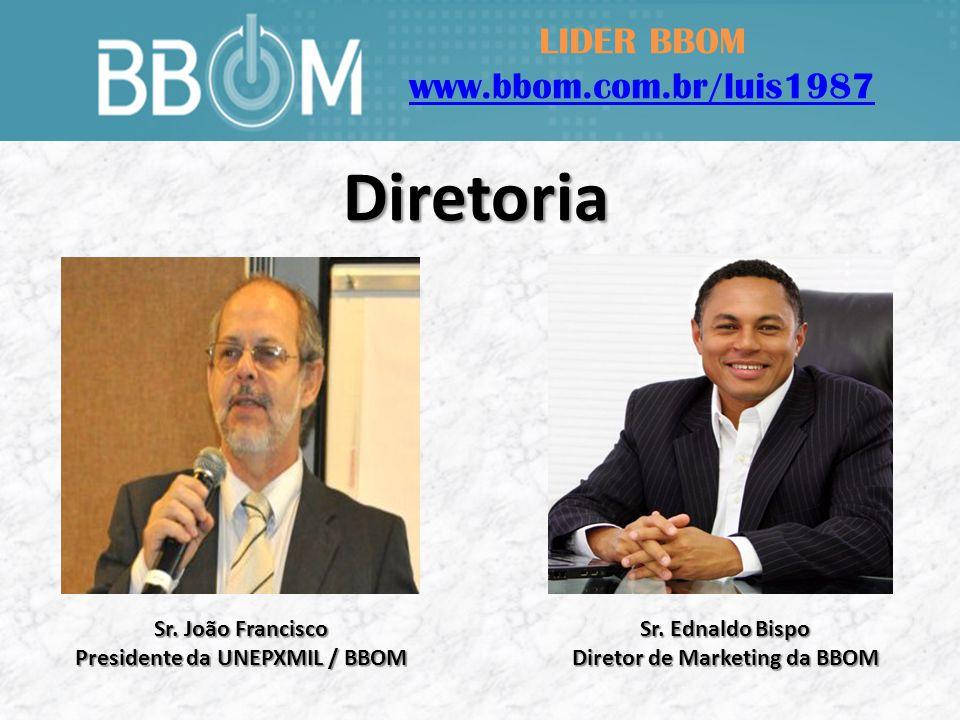 LIDER BBOM www.bbom.com.br/luis1987 Sr. Ednaldo Bispo Diretor de Marketing da BBOM Sr.