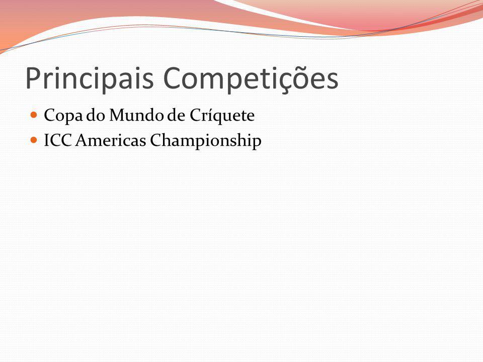 Principais Competições Copa do Mundo de Críquete ICC Americas Championship