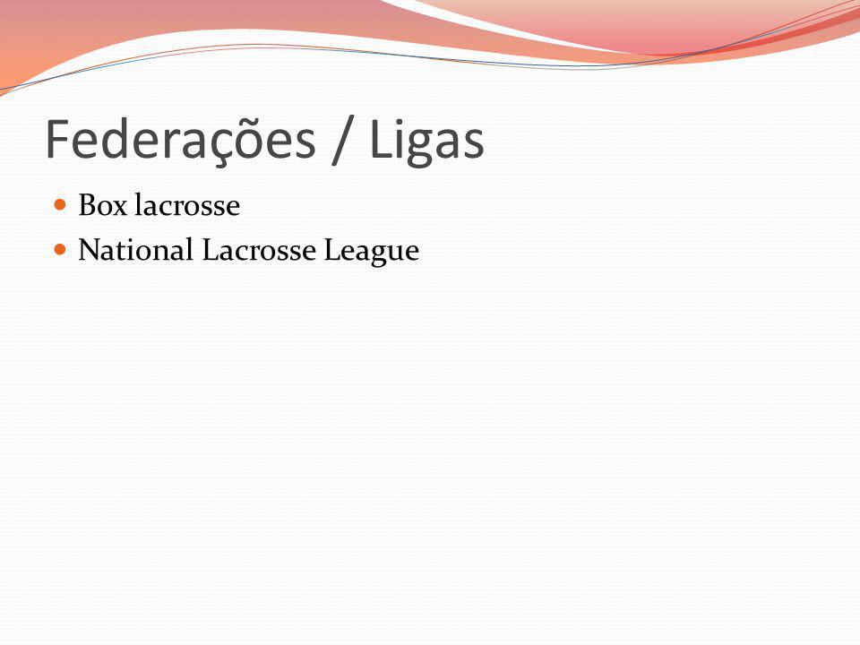 Federações / Ligas Box lacrosse National Lacrosse League