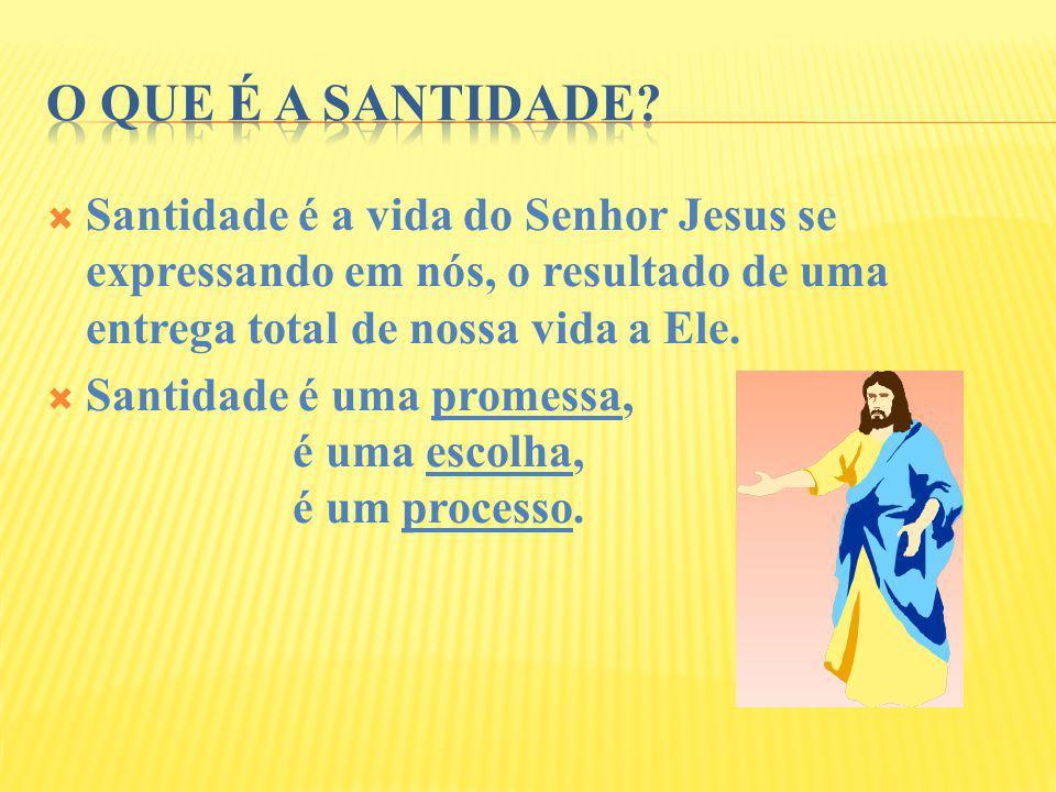 Santidade é a vida do Senhor Jesus se expressando em nós, o resultado de uma entrega total de nossa vida a Ele. Santidade é uma promessa, é uma escolh