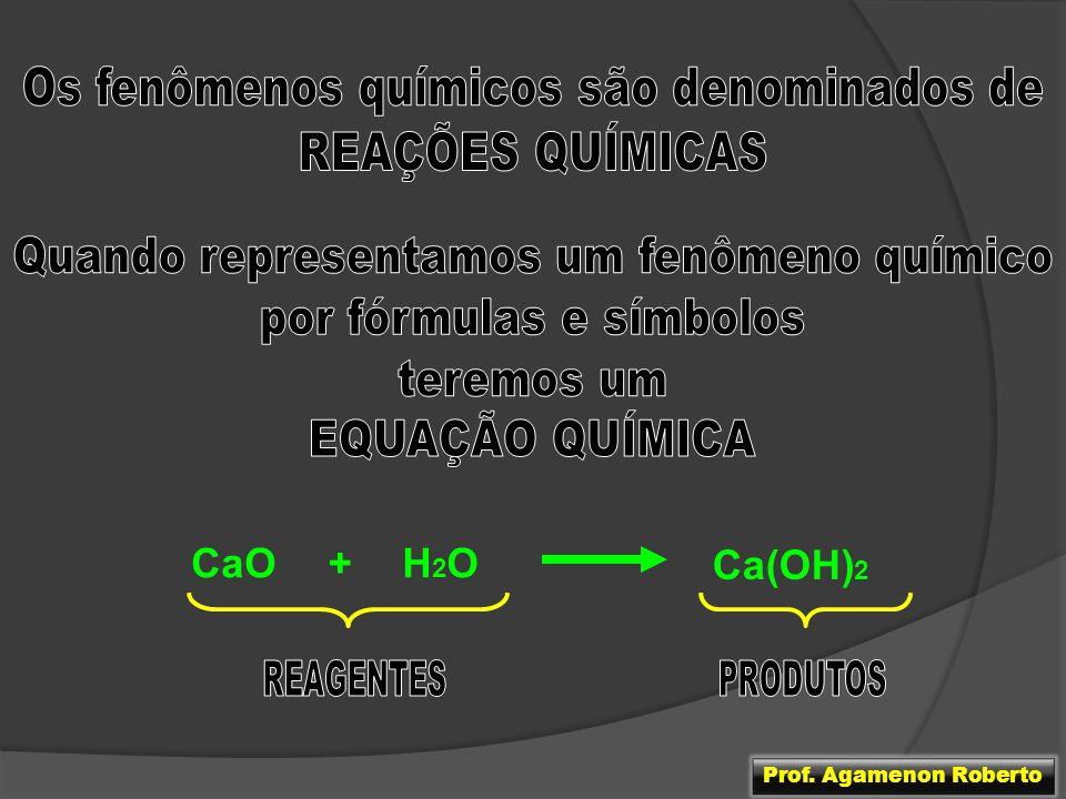 H2OH2OCaO+ Ca(OH) 2 Prof. Agamenon Roberto