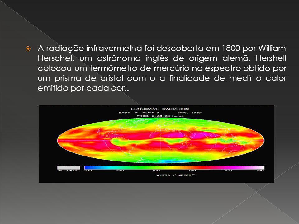 A radiação infravermelha foi descoberta em 1800 por William Herschel, um astrônomo inglês de origem alemã. Hershell colocou um termômetro de mercúrio