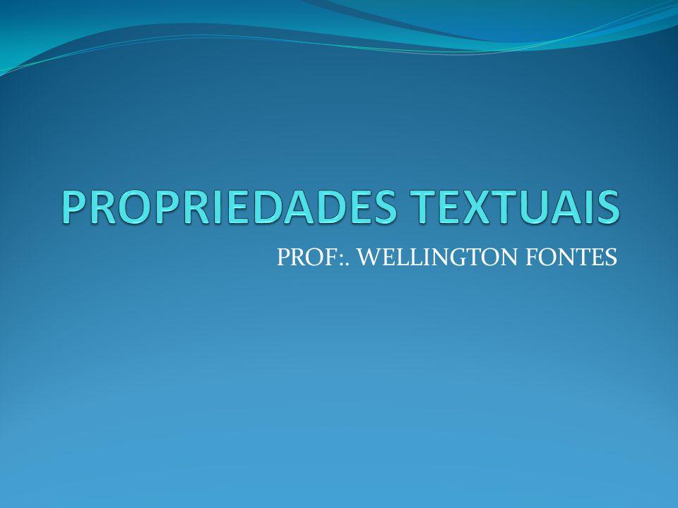 PROF:. WELLINGTON FONTES
