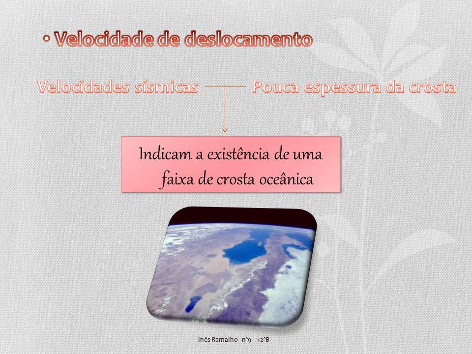 Inês Ramalho nº9 12ºB Indicam a existência de uma faixa de crosta oceânica