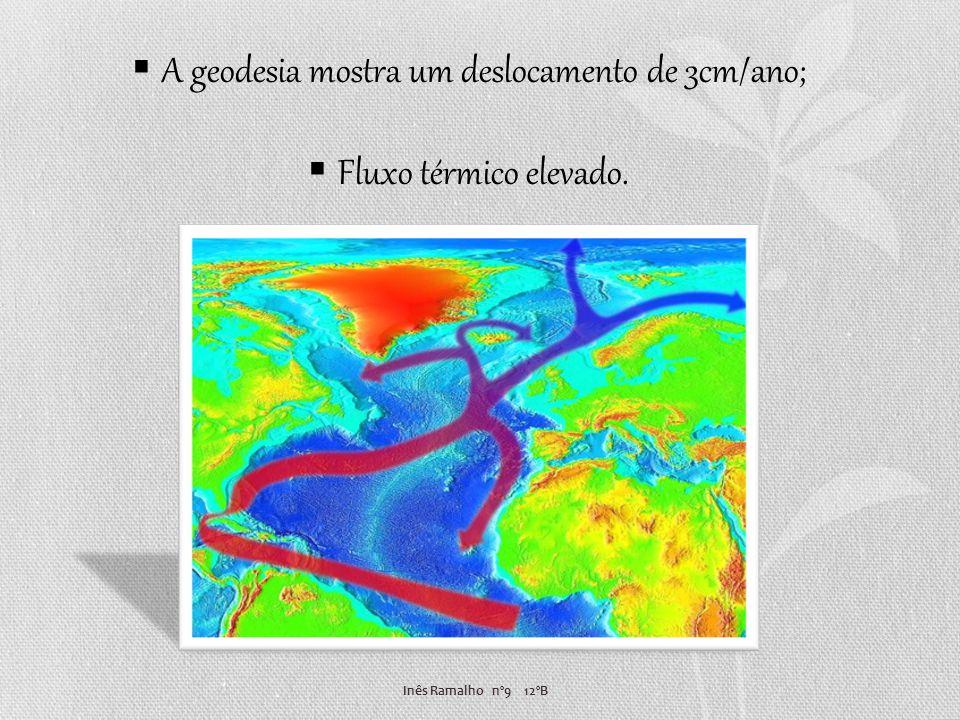 Inês Ramalho nº9 12ºB A geodesia mostra um deslocamento de 3cm/ano; Fluxo térmico elevado.