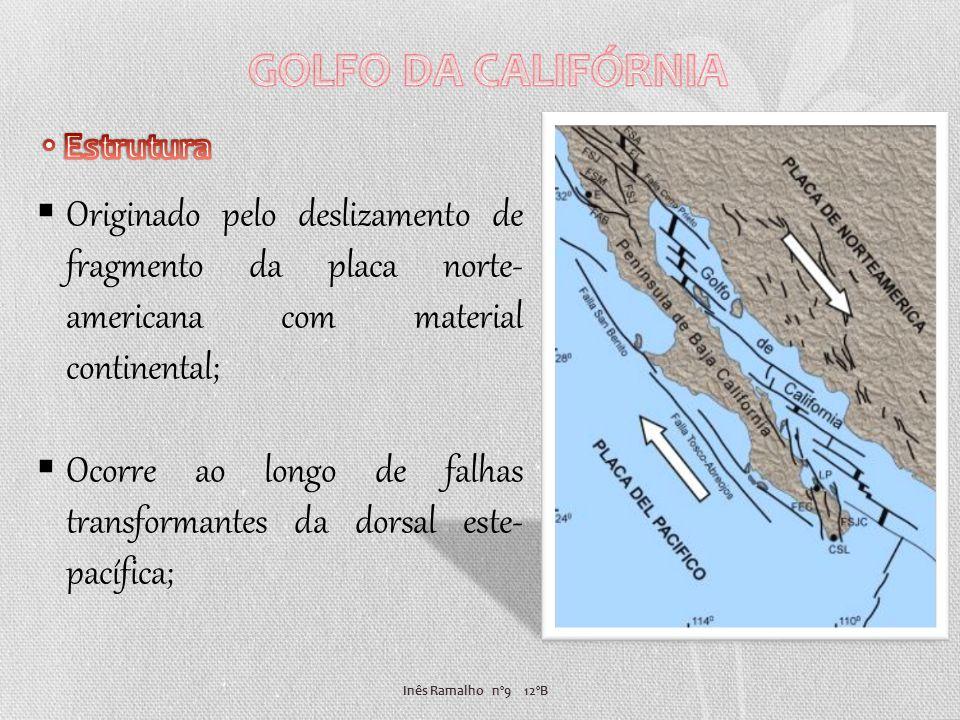 Inês Ramalho nº9 12ºB Originado pelo deslizamento de fragmento da placa norte- americana com material continental; Ocorre ao longo de falhas transform