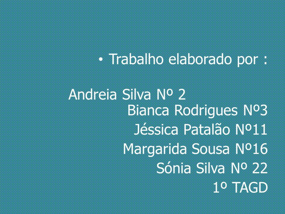 Trabalho elaborado por : Andreia Silva Nº 2 Bianca Rodrigues Nº3 Jéssica Patalão Nº11 Margarida Sousa Nº16 Sónia Silva Nº 22 1º TAGD