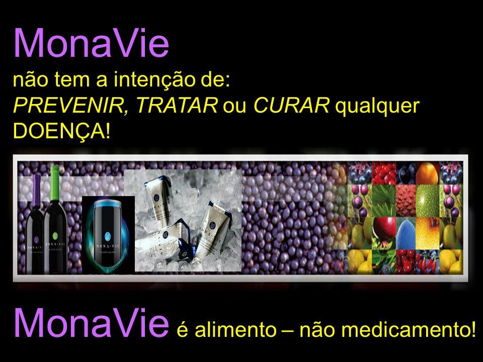 MonaVie não tem a intenção de: PREVENIR, TRATAR ou CURAR qualquer DOENÇA! MonaVie é alimento – não medicamento!