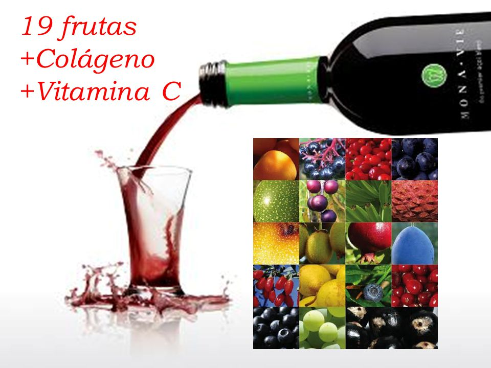 19 frutas +Colágeno +Vitamina C