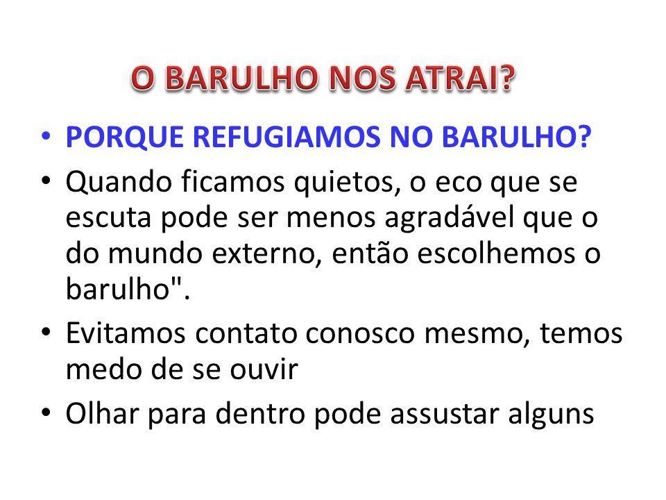 PORQUE REFUGIAMOS NO BARULHO.