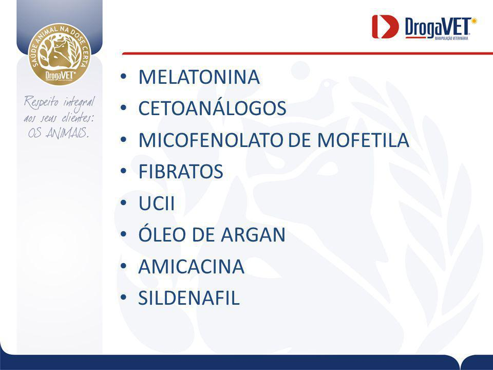 MELATONINA CETOANÁLOGOS MICOFENOLATO DE MOFETILA FIBRATOS UCII ÓLEO DE ARGAN AMICACINA SILDENAFIL