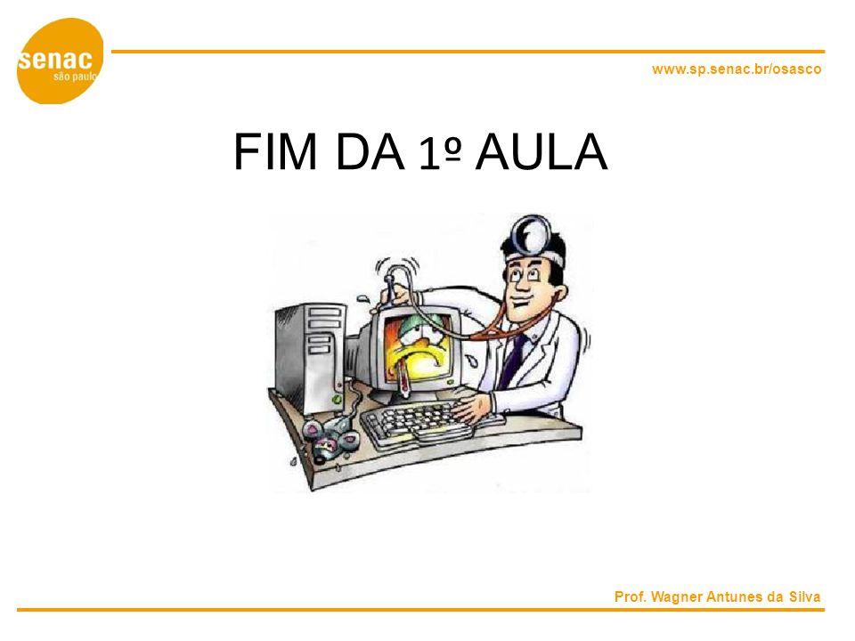 www.sp.senac.br/osasco FIM DA 1º AULA Prof. Wagner Antunes da Silva