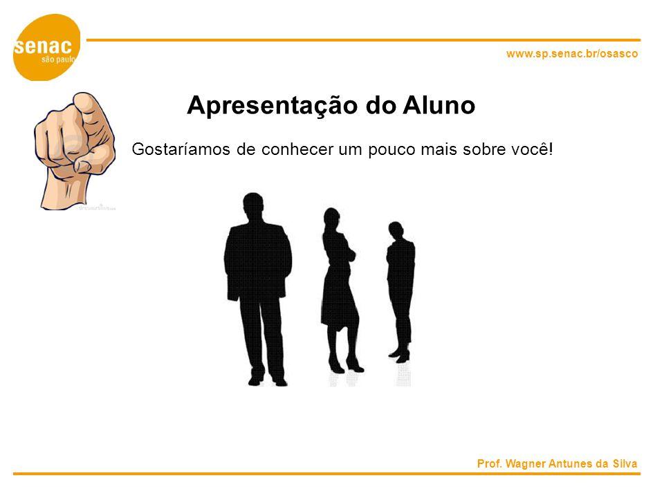 www.sp.senac.br/osasco Apresentação do Aluno Gostaríamos de conhecer um pouco mais sobre você.
