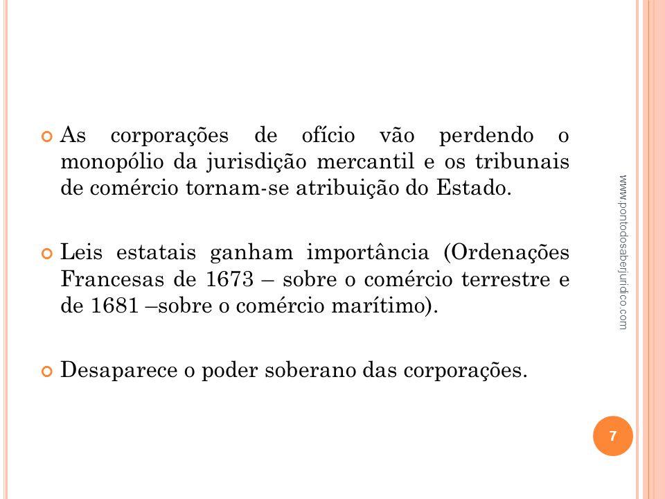 A parte do direito privado, que tem principalmente por objeto regular as relações jurídicas, que nascem do exercício do comércio (Cesare Vivante).